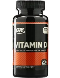 Optimum Nutrition Vitamin D 5000 IU 200 caps